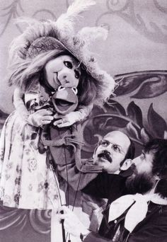 Miss Piggy & Kermit  with Frank Oz and Jim Henson