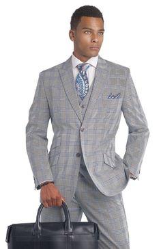 Modern-Slim-Fit-Red-Plaid-3-Piece-Suits-Mens-M18010-Business-Men ...