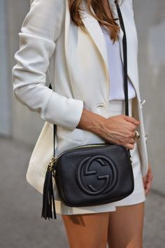 Blazer: H&M (old, similar here , here , and here ) // Shorts: Zara (similar here ) // Cami: J.Crew // Pumps: Schut...