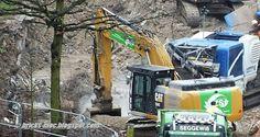 MOC and Construction Blog Vlog: Caterpillar CAT 324E NL Excavator Bagger Loads Trucks Debris Recycling Duisburg Rheinhausen