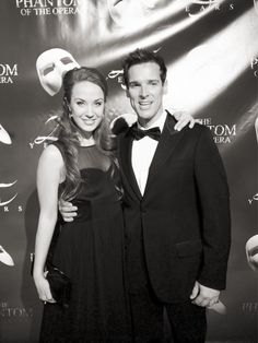 Sierra Boggess and Hugh Panaro at the 25th anniversary of POTO on Broadway
