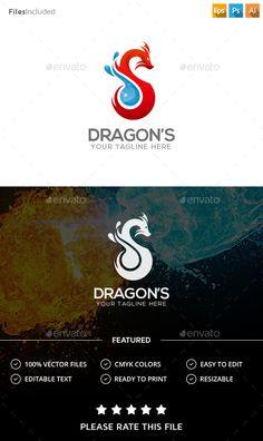 Buy Dragon Logo by Exe-Design on GraphicRiver. Abstract Logo, Geometric Logo, Initials Logo, Monogram Logo, Logo Design Template, Logo Templates, Logo Dragon, Circle Logos, Typography Logo