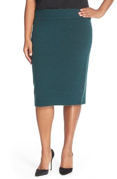 Halogen® Sweater Knit Pencil Skirt (Plus Size) available at #Nordstrom