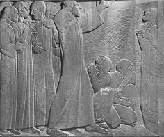 Ivan Mestrovic Wood carving by Ivan Mestrovic depicting events from life to Christ as given in New Testament