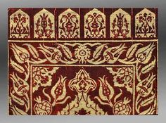 Detail of lappets on velvet yastik, Turkey, 16th century. Gerard Paquin collection.