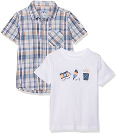 26540aba76f70 Mothercare Baby Boys Mb Lab Check Shirt And Tee Set Shirt, Multicoloured  (Brights Multi), 18-24 Months (Manufacturer Size:92): Amazon.co.uk: Clothing