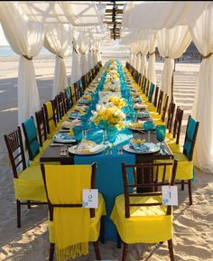 Destination beach wedding setting idea