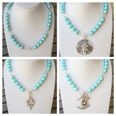 New shell pearl necklace can be worn with any of our pendants on removable bails.
