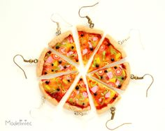 #polymerclay #earrings #pizza