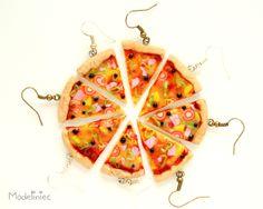 #polymerclay #earrings #pizza