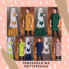 Model Baju Gamis Couple Terbaru Kombinasi Kemeja Koko Lengan Pendek Untuk Baju Lebaran 2020 Batik Couple, Koko, Duster Coat, Nude, Couples, Jackets, Dresses, Fashion, Down Jackets