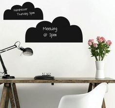 Cloud shape Removable Blackboard decals Gift for kids Room decor