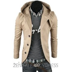ce9cc9ee150d75 Fashion 2015 New Spring Mens Casual Hoodie Suit Slim Fit Blazer Outerwear  Coat