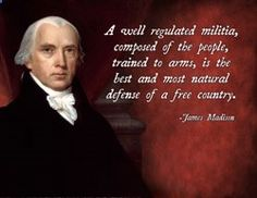 James Madison gun quote