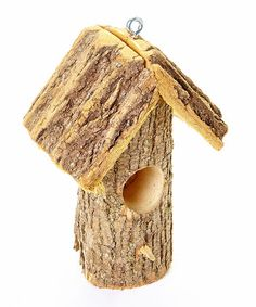 Look what I found on #zulily! Hanging Stump Bird Feeder #zulilyfinds