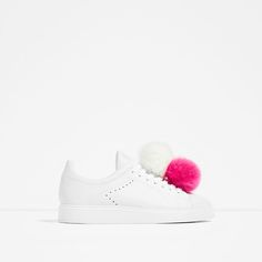 ZARA - COLLECTION SS/17 - LEATHER POMPOMS SNEAKERS
