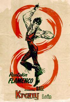 1965    'Pantalón flamenco'.