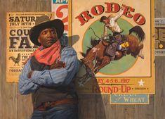 Art Selecta: el arte que hay que ver Canvas Art Prints, Canvas Wall Art, Autistic Artist, Thomas Blackshear, Westerns, Black Cowboys, Western Art, Rodeo, Illustrators