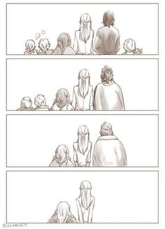 Fellowship of the Ring after the departure at the Grey Havens. Its so sad because it shows each one of them and after they have passed until It's only Legolas and gimli left. So SAD and So SWEET. Legolas Und Gimli, Aragorn, Gandalf, Tauriel, Hobbit Art, O Hobbit, Fellowship Of The Ring, Lord Of The Rings, Bagginshield