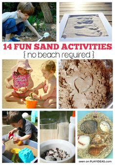 Whether you're at the beach or not, your family can have a good time this summer with these 14 super fun sand activities for kids!