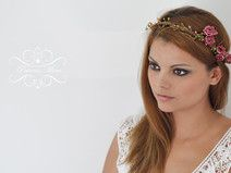 Braut Blumenkranz Dirndlkranz Haarband Haarschmuck