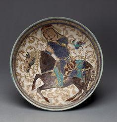 Bowl with prince on horseback [Iran] (51.53)   Heilbrunn Timeline of Art History   The Metropolitan Museum of Art
