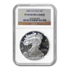 2003 W 1 oz Silver American Eagle $1 Coin NGC PF 69 UCAM | Bullion Exchanges