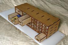 Laser cut Organizer Box – MDF & Acrylic