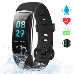 KUNGIX Orologio Fitness Tracker Uomo Donna Smartwatch Android iOS Cardiofrequenzimetro da Polso Fitness Activity Tracker Smart Watch Pollice Schermo a Colori Impermeabile Fitness Tracker, Fitness Activity Tracker, Smartwatch Android, Monitor, Arm Workout With Bands, Fitness Armband, Ios, Smart Watch, Bluetooth