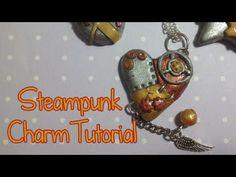 Polymer Clay Tutorial | Steampunk Hearts | Kato Liquid + Embosser | Buon San Valentino! - YouTube