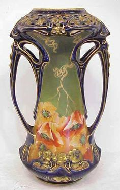 ART NOUVEAU PORCELAIN VASE...reminds me of the one Grandma had that she gave Aunt Margaret