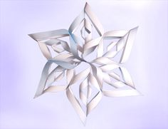 3D Paper Snowflake (Printable Winter Activity for Kids) | Spoonful