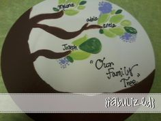 Custom hand painted family tree plate. Great for any special occasion / holiday gift <3 $10