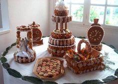 Pièces montées choux et nougatine #wedding #mariage #cake