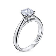 Scott Kay Platinum Radiance Round Diamond Solitaire Semi-Mount Engagement Ring