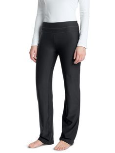 Women's BodyShade Yoga Booty Pants - Solumbra: All Day 100+ SPF Sun Protective Clothing - Style# 25580