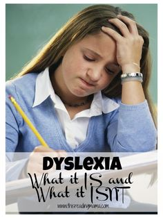 Dyslexia-what it is and what it isn't {This Reading Mama}.  Most people don't even know they are dyslexic until later in life...if at all.  Dyslexia Affects 1 in 5.   Repinned by  SOS Inc. Resources  http://pinterest.com/sostherapy.