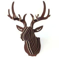 Modelo 3D Puzzle De Madeira DIY Criativo Presente Decoração da Casa de Artesanato de Madeira Pendurado Na Parede Da Cabeça Dos Cervos Alces Animal Dos Animais Selvagens em   de   no AliExpress.com | Alibaba Group