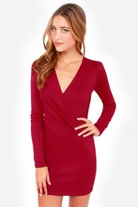 Foreign Film Wine Red Dress