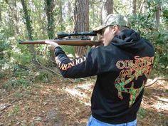 Deer Skull Unisex Hoodie Sweatshirt Black Green Orange Country Life Outfitters #Clothing