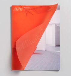 University of the Arts London orange vellum cover by Magpie Studio #MagieStudio #UniversityoftheArtsLondon