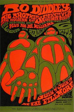 Bo Diddley Poster Fillmore Auditorium (San Francisco, CA) Jul 4, 1967