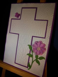 Embossed Easter Cross Card