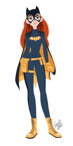 Pinup Arena • pernilleoe: A little doodle of Batgirl from the...