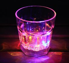 LED Flashing Octagon Cup LED Light Cup Glass Cup Glass Beer Mug Glowing Led Night Light Bar Party Decoration Lamps LED Toy Online with $2.65/Piece on Ok360's Store   DHgate.com