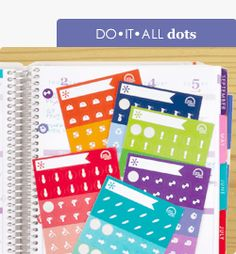 Do-It-All Dots: 6 sheets of stickers for health, beauty, fitness & financial planning let you DO IT ALL! #EClifeplanner #erincondren