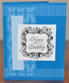 Happy Birthday Pacific Blue Greeting Card by SnippetsByDesign