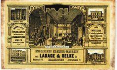 Alte Visitenkarte, gefunden in Theodor Storms Brieftasche.