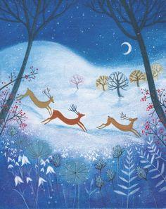 Winter Deer by Veronica Vasylenko