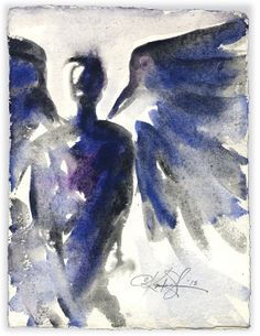 Angel Abstract Series .. 108... Original by Kathy Morton Stanion